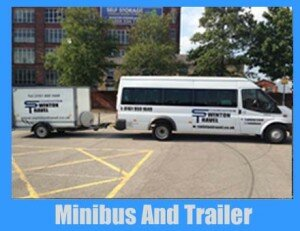 Minibus And Trailer